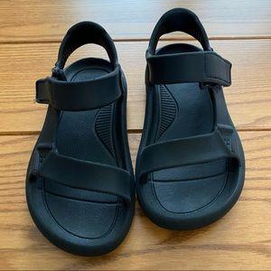 Black Size 11C Toddler Rubber Teva Sandals